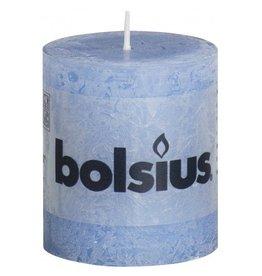 Bolsius Bolsius stompkaars rustiek 80 x 70 mm jeans blauw