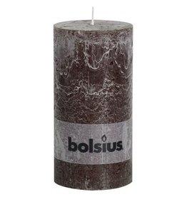 Bolsius Bolsius stompkaars rustiek 200 x 100 mm chocolade bruin