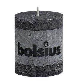 Bolsius Bolsius stompkaars rustiek 80x70mm zwart