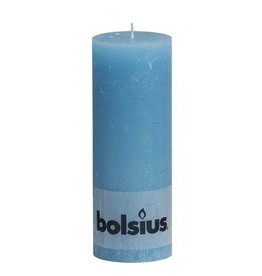 Bolsius Bolsius stompkaars rustiek 190x70mm aqua