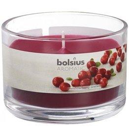 Bolsius Bolsius geurkaars in glas 63mm cranberry