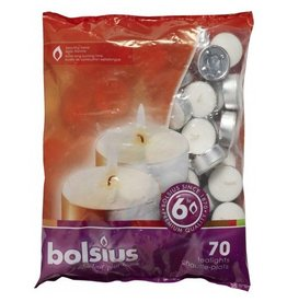 Bolsius Bolsius bolsius theelicht 6uur wit 70st
