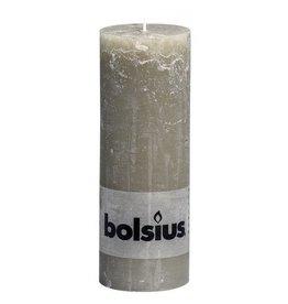 Bolsius Bolsius stompkaars rustiek 190x68mm kiezelgrijs
