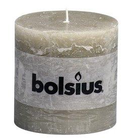 Bolsius Bolsius stompkaars rustiek 10x10cm kiezelgrijs