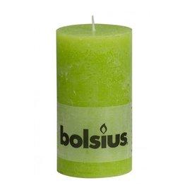 Bolsius Bolsius stompkaars rustiek 130x70mm lemon