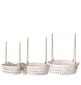 Riverdale Mand Bamboo white hangend klein