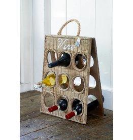 Riviera Maison Rustic Rattan Vino Bottle Board