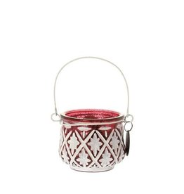 Riverdale Lantaarn Snow 6Cm Burgundy/Wit