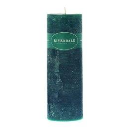 Riverdale Kaars Pillar emerald 7.5x23cm