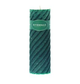 Riverdale Kaars Swirl emerald 7.5x23cm