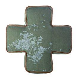 Riverdale Kussen Army groen 50cm AB
