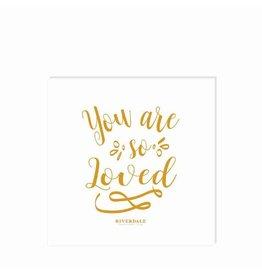 Riverdale Servet Happy goud 33cm