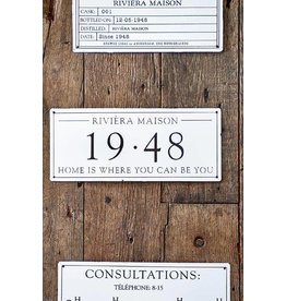 Riviera Maison Classic Enamel 1948 Sign