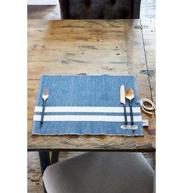 Riviera Maison Classic Ribbed Placemat blue