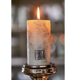 Riviera Maison Small Feather Candle white 7x13