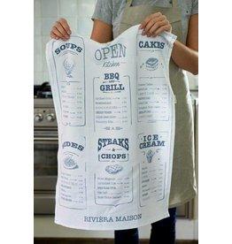 Riviera Maison Tea Towel Kitchen Menu