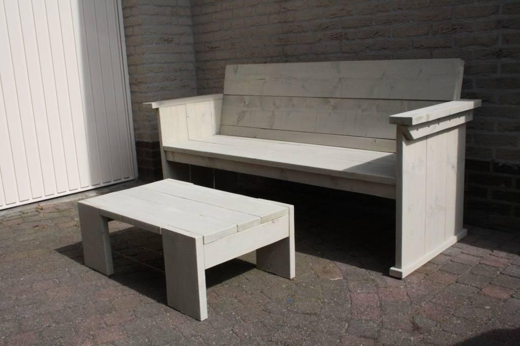 Goedkope tuinbank steigerhout for Steigerhouten eettafel bank