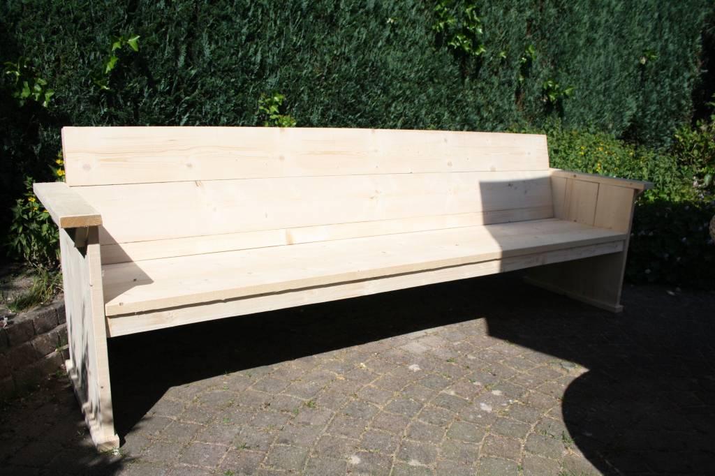 Steigerhouten bank zonder armleuning steigerhouten meubelen