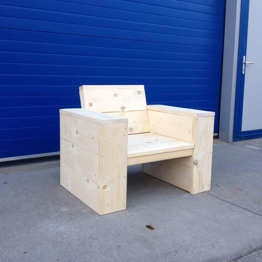 Lounge stoel - Maatwerk Steigerhout