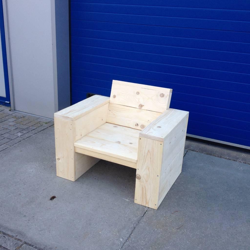 Lounge stoel   maatwerk steigerhout