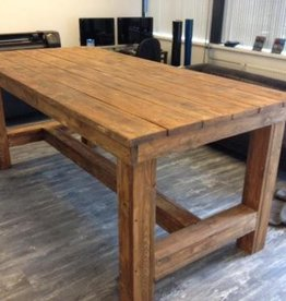 Bar balie toonbank van steigerhout maatwerk steigerhout for Houten bartafel