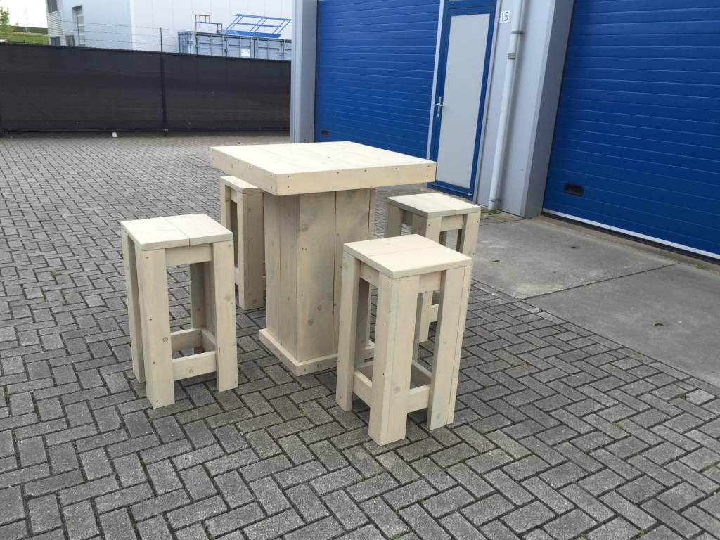 Eettafel met bijpassende bank voor in de kleine ruimte - Maatwerk ...