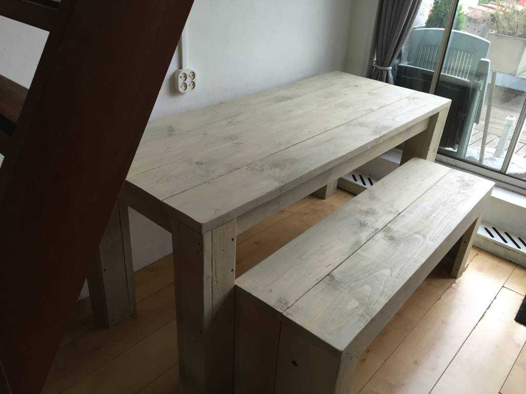 Eettafel set maatwerk steigerhout