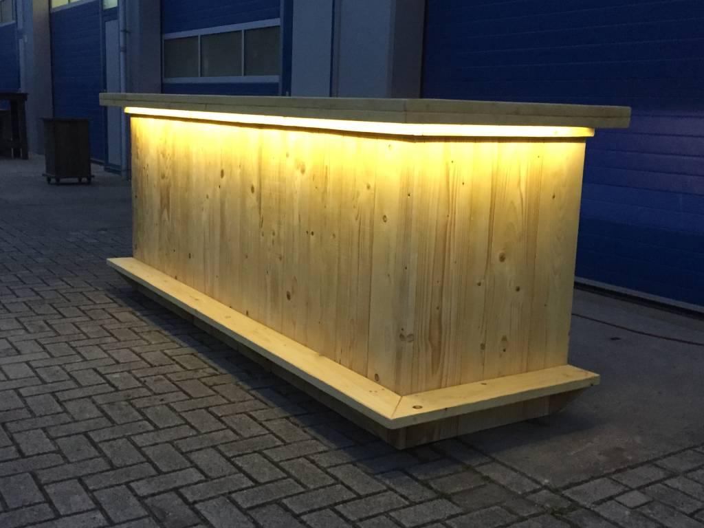 Bar / Balie van steigerhout met LED verlichting - Maatwerk Steigerhout