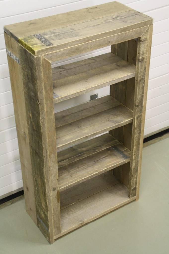 Boekenkast van steigerhout maatwerk steigerhout for Boekenkast steigerhout