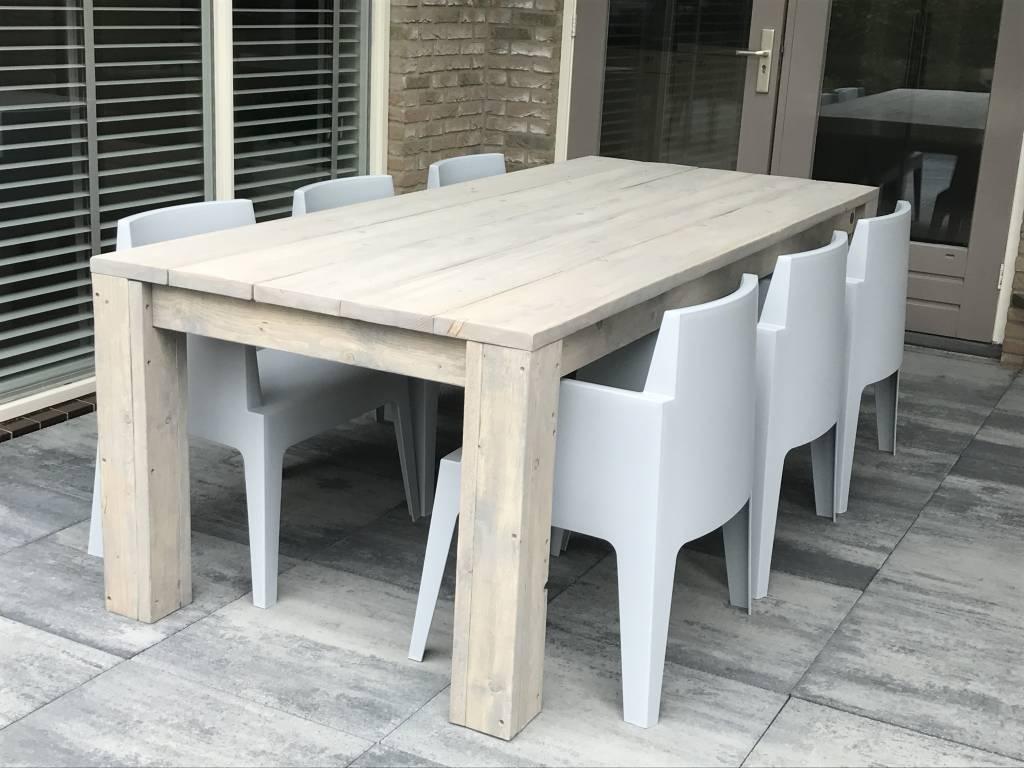 Tafels en eettafels maatwerk steigerhout for Huis in tuin voor ouders