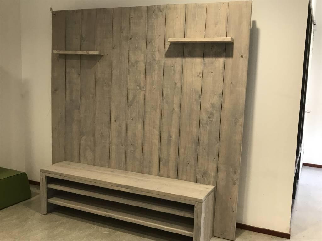 Tv meubels maatwerk steigerhout for Tv meubel steigerhout