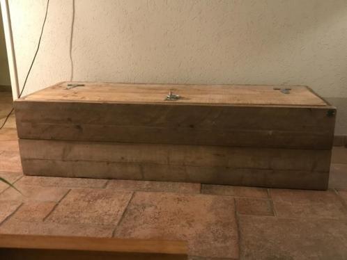 Dekenkist / Opbergkist oud steigerhout