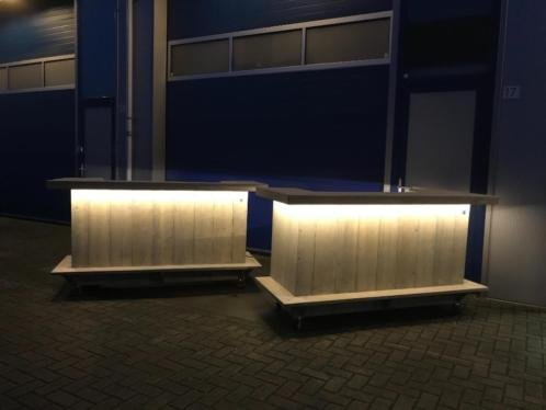 Bar / Balie / Toonbank van steigerhout op wieltjes - Maatwerk ...