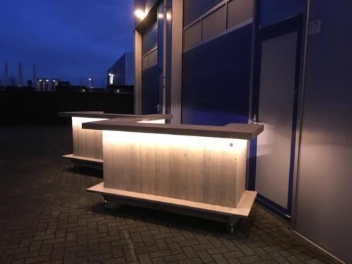bar balie toonbank met led verlichting van en verrijdbaar
