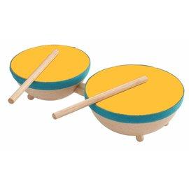 Plan Toys Dubbele drum