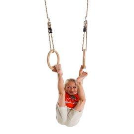 anneaux de gymnastique en bois