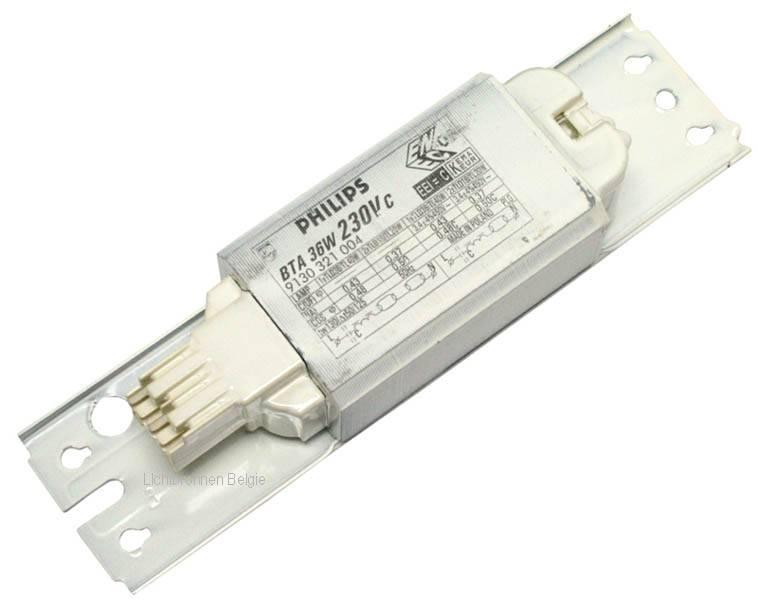Conventionele ballast 30w lamp belgie for Lampen 0 36w 6v
