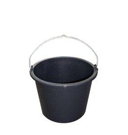 Bouwemmer PE zwart 12l