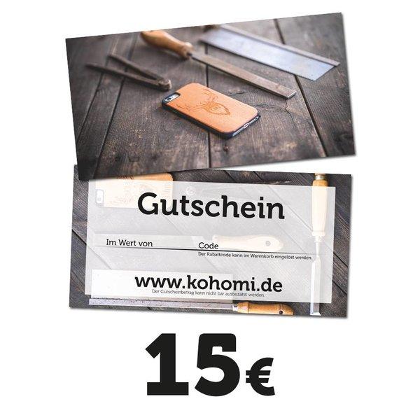 Geschenkgutschein im Wert von 15€