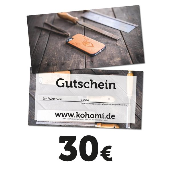 Gift Voucher with a value of 30€