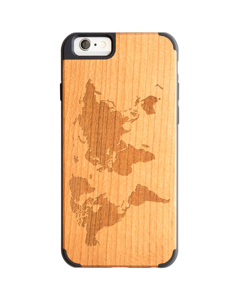 World Map Iphone 6s Case.Iphone 6 Wood Case Worldmap To See The World