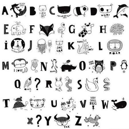 A LITTLE LOVELY COMPANY 33-Pack | Kids ABC Zwart