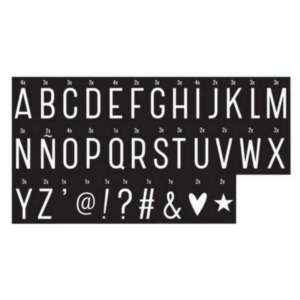 Lightbox 85 Monochrome Buchstaben und Symbole für Lightbox