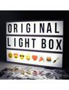 LIGHTBOX A4 Buchstaben Leuchtkasten in Schwarz mit Micro USB Input