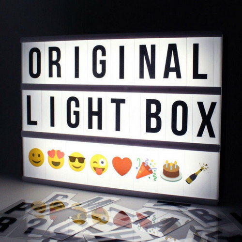 LOCOMOCEAN LIGHTBOX A4 | Schwarz - Micro USB