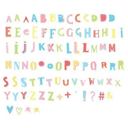 A LITTLE LOVELY COMPANY LIGHTBOX 85-Pack - Funky ABC Farbe