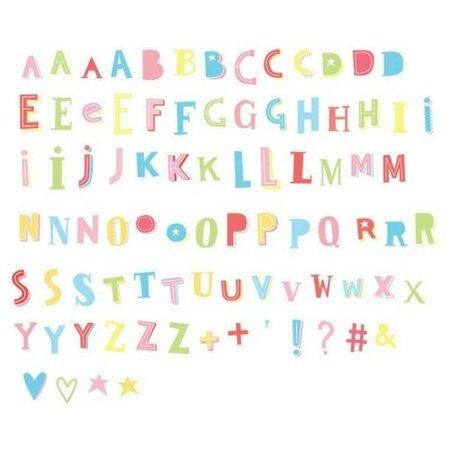 A LITTLE LOVELY COMPANY LIGHTBOX 85-Pack - Funky ABC Kleur