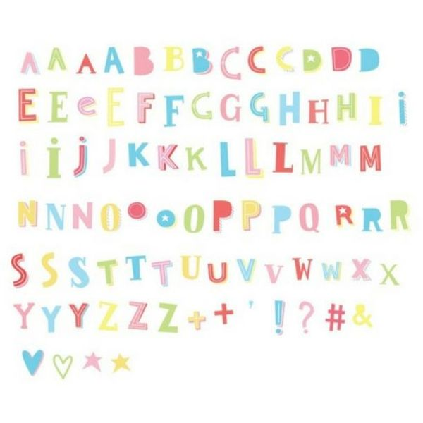 85 Funky Letters in Color for Lightbox
