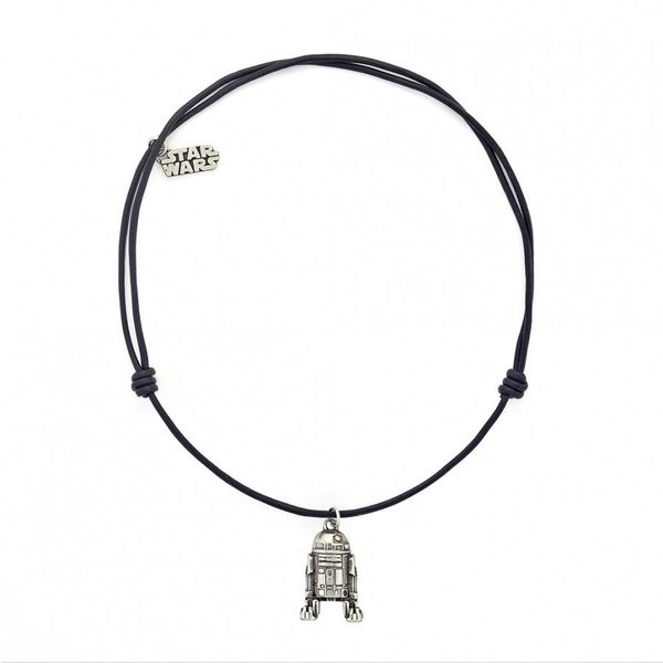 Necklace R2-D2 in Leather