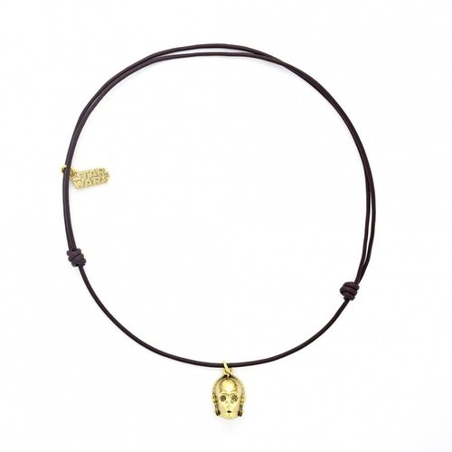 STAR WARS Necklace C3PO Leather